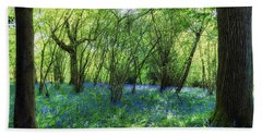 Bluebells In The New Forest Bath Towel