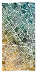 Bogota Colombia City Map Bath Towel