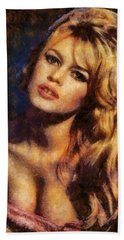 Brigitte Bardot Hollywood Actress Hand Towel by Esoterica Art Agency