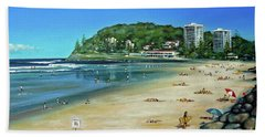Bath Towel featuring the painting Burleigh Beach 100910 by Selena Boron