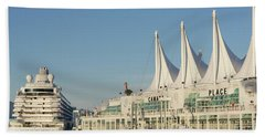 Canada Place Hand Towel by Ross G Strachan