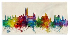 Canterbury England Skyline Bath Towel
