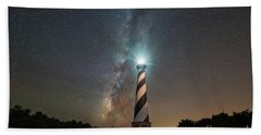 Cape Hatteras Lighthouse Milky Way Bath Towel by Michael Ver Sprill