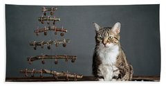 Cat Christmas Bath Towel
