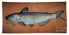 Catfish Bath Towel by Andrew Drozdowicz