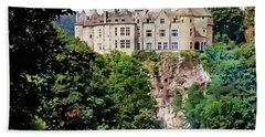 Chateau De Walzin - Belgium Hand Towel by Joseph Hendrix