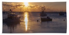 Bath Towel featuring the photograph Chatham Sunrise by Charles Harden