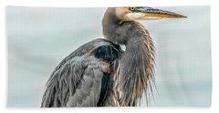 Chesapeake Bay Great Blue Heron Hand Towel