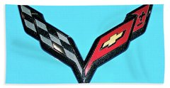 Chevy Emblem Hand Towel by Pamela Walrath