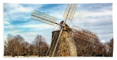 Bath Towel featuring the photograph Corwith Windmill Long Island Ny Cii by Susan Candelario