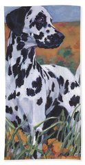 Hand Towel featuring the painting Dalmatian by Lee Ann Shepard