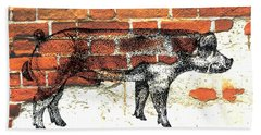 Danish Duroc Boar Bath Towel by Larry Campbell