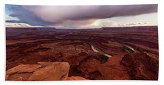 Bath Towel featuring the photograph Dead Horse Point by Jay Stockhaus