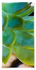 Blue Pearl Plant Bath Towel