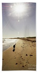 Bath Towel featuring the photograph Dog Beach by Cassandra Buckley