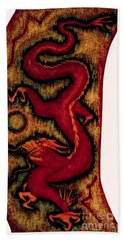 Dragon Bath Towel by Fei A