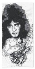 Eddie Van Halen Hand Towel by Gary Bodnar