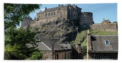 Hand Towel featuring the photograph Edinburgh Castle In Scotland by Jeremy Lavender Photography
