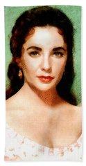 Elizabeth Taylor Hollywood Actress Hand Towel