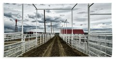 Empty Corrals Hand Towel by L O C