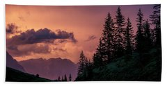 Evening In The Alps Hand Towel