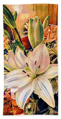 Flowers For You Bath Towel by MaryLee Parker