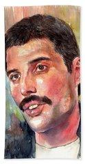 Freddie Mercury Portrait Hand Towel