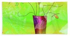 Garden Vase Hand Towel