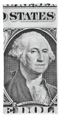 Hand Towel featuring the photograph George Washington by Les Cunliffe