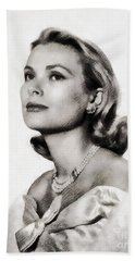Grace Kelly, Vintage Hollywood Actress Hand Towel by John Springfield