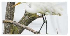 Bath Towel featuring the photograph Great Egret by Ricky L Jones