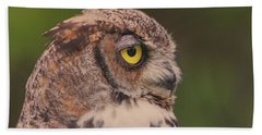 Great Horned Owl Bath Towel