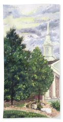 Hand Towel featuring the painting Hale Street Chapel by Jane Autry