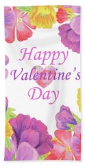 Happy Valentines Day Hand Towel