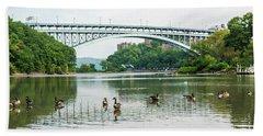 Henry Hudson Bridge Bath Towel