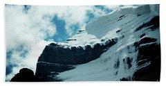 Holy Kailas Fragment Himalayas Tibet Yantra.lv Bath Towel