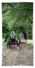 Horse Drawn Wagon Hand Towel