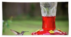 Hummingbird Hand Towel by Denis Lemay