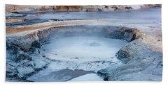 Hverir Steam Vents In Iceland Hand Towel by Joe Belanger