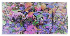 Hydrangea Bath Towel by Ann Johndro-Collins
