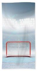Ice Hockey Goals In Stadium Bath Towel