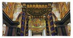 Interior View Of The Basilica Di Santa Maria Maggiore In Rome Italy Bath Towel