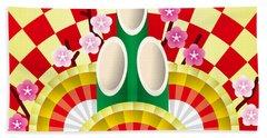 Japanese Newyear Decoration Hand Towel