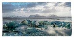 Hand Towel featuring the photograph Jokulsarlon, The Glacier Lagoon, Iceland 3 by Dubi Roman