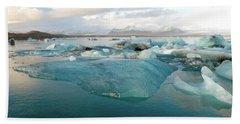 Jokulsarlon The Glacier Lagoon, Iceland 2 Hand Towel