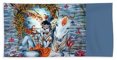 Krishna Bath Towel by Harsh Malik