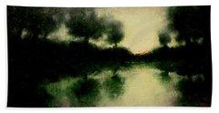 Lagoon At Sunset Hand Towel