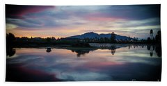 Lebanon Oregon Sunset Hand Towel by Nick Boren