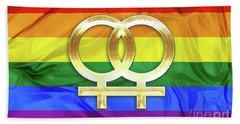 Lesbian Symbols Bath Towel