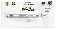 Bath Towel featuring the digital art Lockheed C-141b by Arthur Eggers